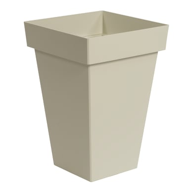 Vaso Mod'o in plastica colore bianco pietra H 53.2 cm, L 36.7 x P 36.7 cm