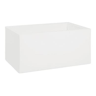 Cassetta portafiori in plastica colore bianco H 40 cm, L 80 x P 50 cm