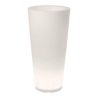 Vaso in plastica colore bianco H 100 cm, Ø 49 cm