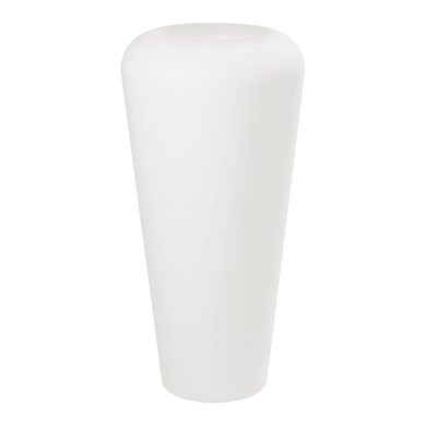 Vaso in plastica colore bianco H 105 cm, Ø 51 cm