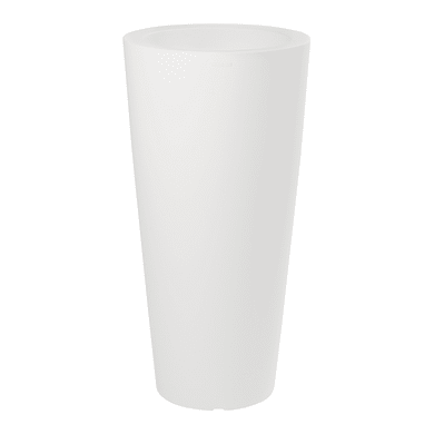Vaso in plastica colore bianco H 70 cm, Ø 34 cm