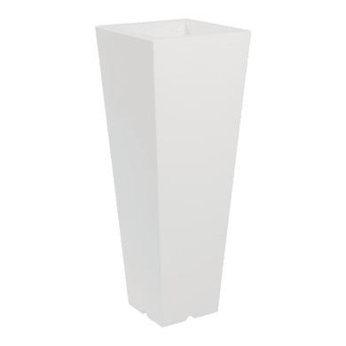 Vaso in plastica colore bianco H 100 cm, L 37.5 x P 37.5 cm