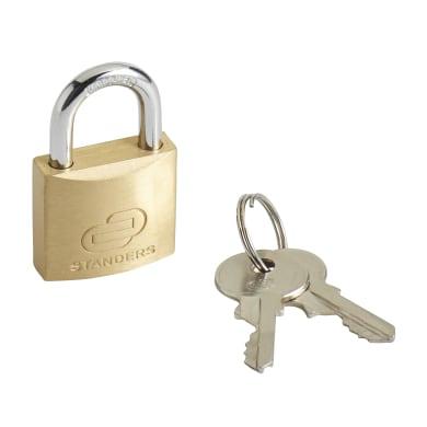 Lucchetto con chiave STANDERS in ottone x L 15 x Ø 5 mm