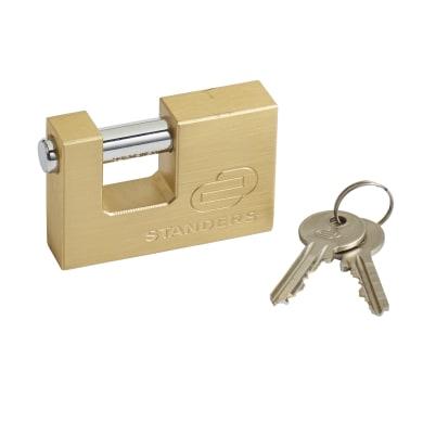 Lucchetto con chiave STANDERS in ottone x L 25 x Ø 11.8 mm