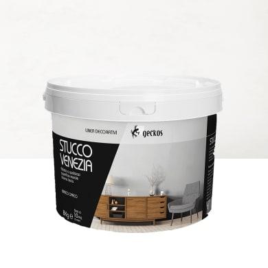 Pittura decorativa GECKOS Stucco 8 kg bianco effetto cemento