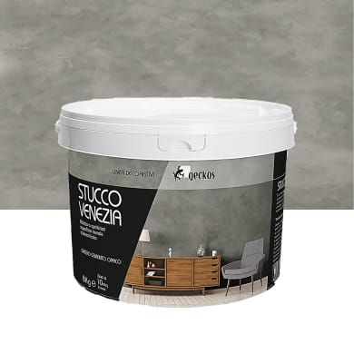 Pittura ad effetto decorativo 8 kg grigio cemento effetto cemento