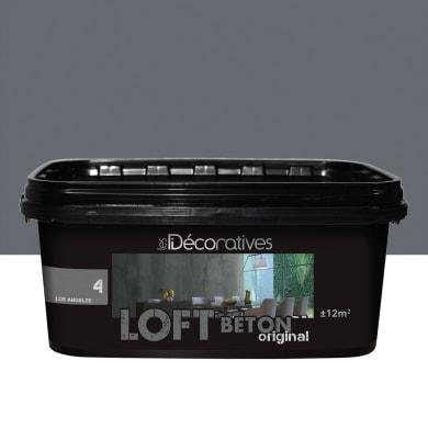 Pittura decorativa LES DECORATIVES Loft Original 2 l grigio cape town effetto cemento