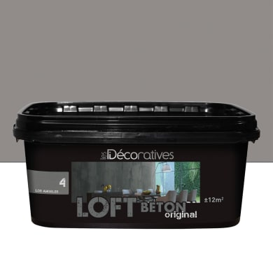 Pittura decorativa LES DECORATIVES Loft Original 2 l grigio los angeles effetto cemento