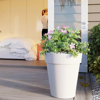 Vaso Capri Alto ARTEVASI in polipropilene colore bianco H 56 cm, Ø 56 cm