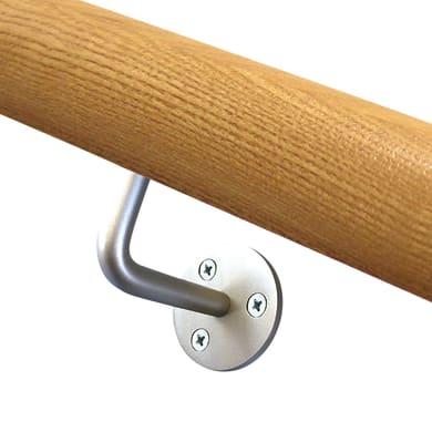 Supporto per corrimano a parete in acciaio inox satinato FONTANOT in inox 304 per interno L 6 x H 11 cm