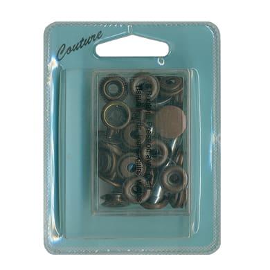 Bottoni pressione nero , 8 pezzi