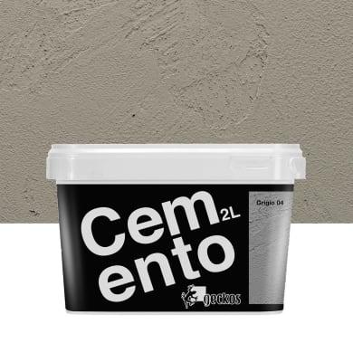 Pittura decorativa Cemento 2 l grigio 4 effetto cemento