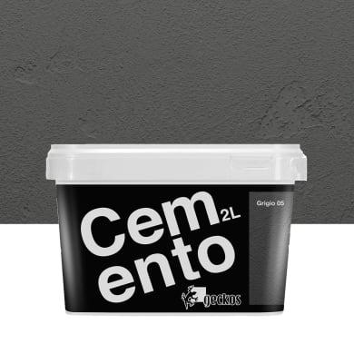 Pittura decorativa Cemento 2 l grigio 5 effetto cemento
