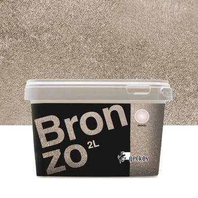 Pittura decorativa GECKOS Metalli 2 l bronzo effetto cemento