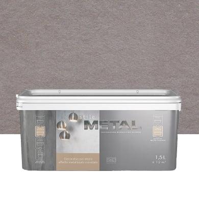 Pittura decorativa RMD DECORAZIONE Stile Metal 1.5 l grigio nikel effetto metallo
