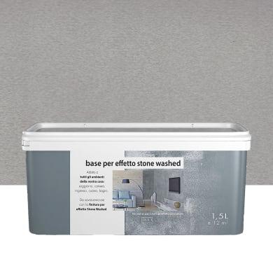 Pittura decorativa Stonewashed 1.5 l grigio argilla effetto cemento