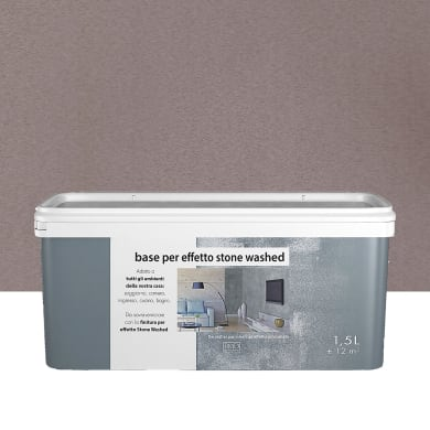 Pittura decorativa RMD DECORAZIONE Stonewashed 1.5 l grigio tufo effetto cemento