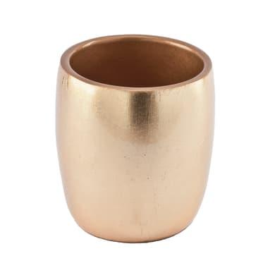 Bicchiere porta spazzolini Gold in resina oro