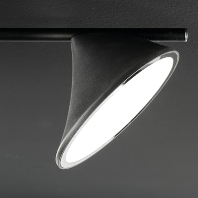 Barra di faretti CHARA nero, in metallo, LED integrato 28W 2600LM IP20 WOFI