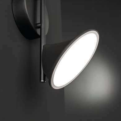 Barra di faretti Chara nero, in metallo, LED integrato 14W 1300LM IP20 WOFI