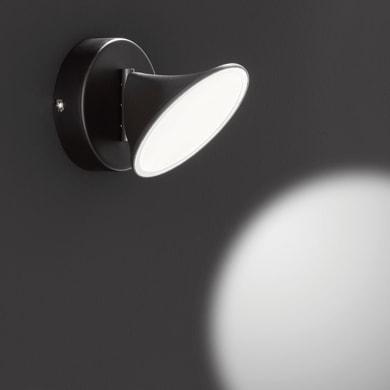 Faretto singolo Chara nero, in metallo, LED integrato 7W 650LM IP20 WOFI
