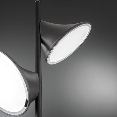 Lampada da terra CHARA trasparente, in metallo, H139cm LED integrato 14W 1400LM WOFI