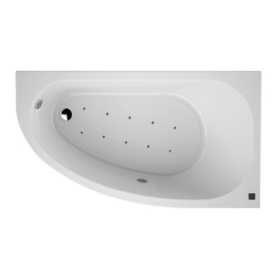 Vasca angolare bianco 160 x 90 cm