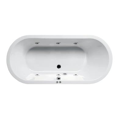 Vasca centro stanza Loft Bianco 180 x 80 cm