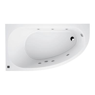 Vasca idromassaggio asimmetrica SANYCCES 160 x 160 cm bianco