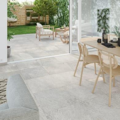 Piastrella da pavimento Stone 60 x 60 cm sp. 9.5 mm PEI 3/5 bianco