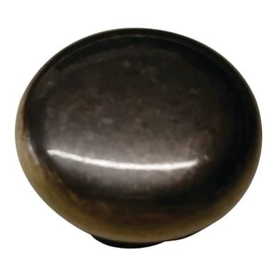 Pomolo in zama marrone satinato Ø 30 mm 4 pezzi