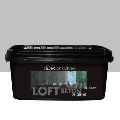 Pittura decorativa LES DECORATIVES Loft Original 2 l grigio taipei effetto cemento