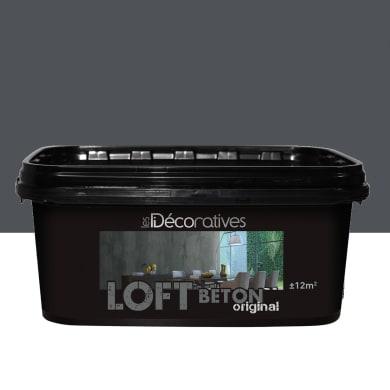 Pittura decorativa LES DECORATIVES Loft Original 2 l nero berlino effetto cemento