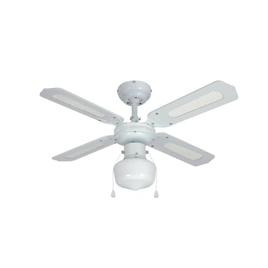Ventilatore da soffitto Barbade, bianco paglia, D. 91 cm