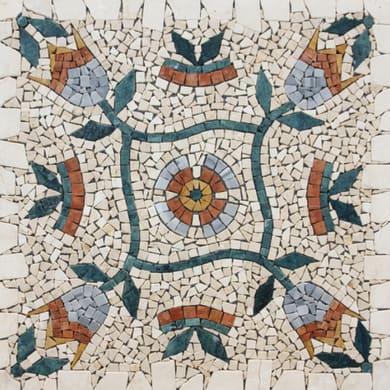 Rosone Fiori 66 x 66 cm sp. 7 mm multicolore