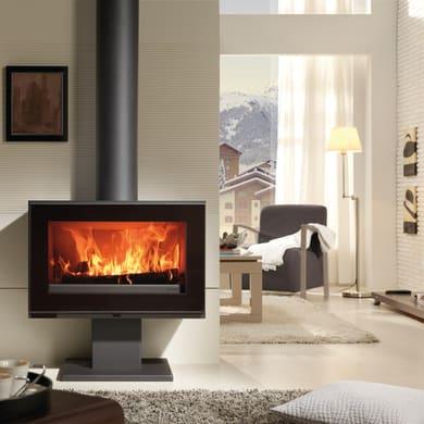 Cucina a legna PANADERO 7.2 kW black metallic