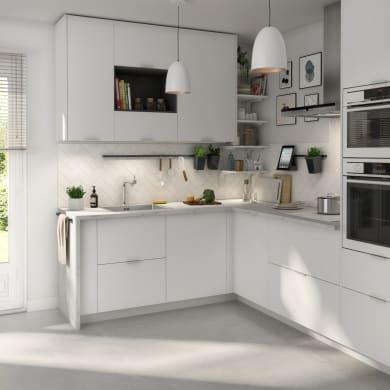 Piano cucina in agglomerato L 246 x P 635 cm, spessore 2.8 cm