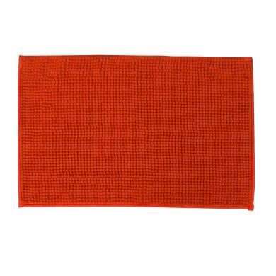 Tappeto bagno rettangolare Easy in ciniglia orange 60 x 40 cm