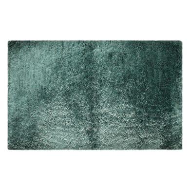 Tappeto bagno rettangolare Neo glamour laguna in poliestere verde 80 x 50 cm