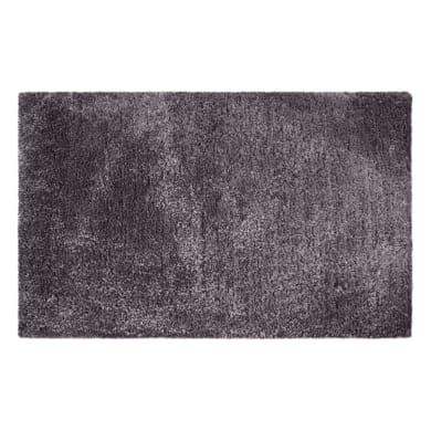 Tappeto bagno rettangolare Neo glamour fossil in poliestere grigio 80.0 x 50.0 cm