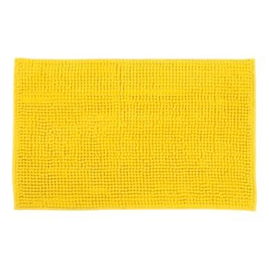 Tappeto bagno rettangolare Easy in ciniglia giallo 60 x 40 cm