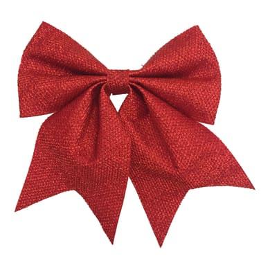 Fiocco Fiocco in tessuto rosso brillante H 28 cm, L 24 cmx P 1 cm,