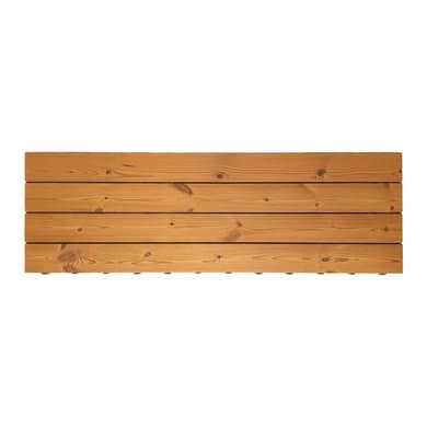 Piastrelle ad incastro ONEK Thermowood in legno pino 120 x 40 cm Sp 45 mm,  marrone