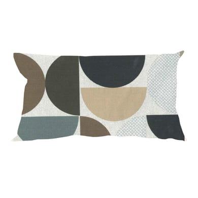 Fodera per cuscino CERCHI marrone 50x30 cm