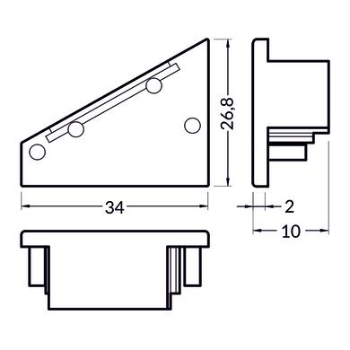 Accessori striscia LED bianco, 0.02 m