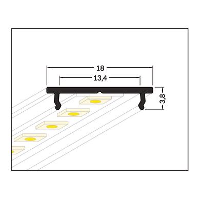 Profilo grigio / argento, 2 m
