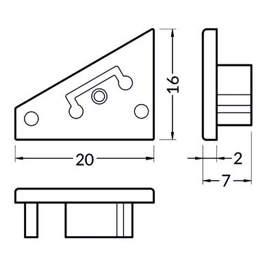Accessori striscia LED nero, 0.02 m