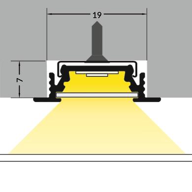 Accessori striscia LED nero, 2 m