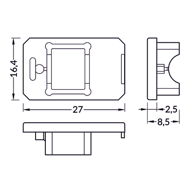 Accessori striscia LED trasparente, 0.02 m