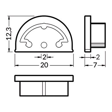 Accessori striscia LED grigio / argento, 0.02 m